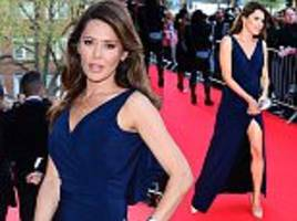 Danielle Lineker wows in blue dress with thigh-high split at Old Vic gala for Kevin Spacey